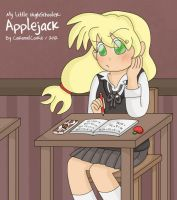 My Little HighSchooler - AJ by CaramelCookie