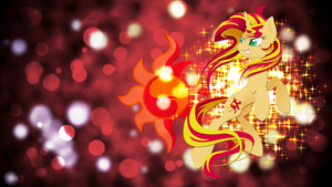 Sunset Shimmer wallpaper by Ahsokafan100