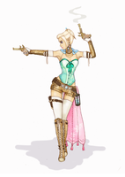 Elven Gunslinger by Phanteia
