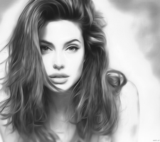 Angelina Jolie Sketch by gseth