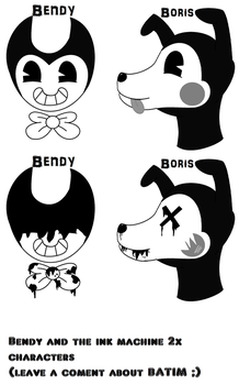 Characters heads |Bendy and the Ink Machine| by kacenkamiksovksa159