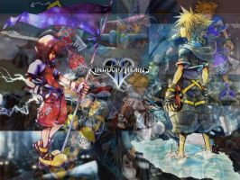 Kingdom Hearts Collage by Wang-Ying