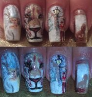 The Chronicles of Narnia nail art by amanda04