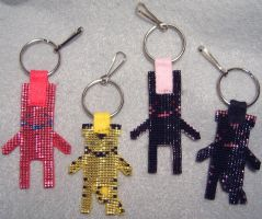 Tiger and Bunny Doll-Style Keychains/Pendants by wickedorin