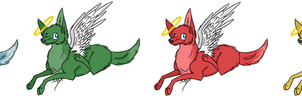Angel lupe adoptables: Basic colors by Maxisamut