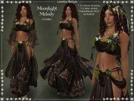 Moonlight Melody DARK Outfit by Elvina-Ewing