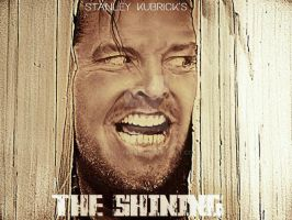 JACK NICHOLSON THE SHINING FAN ART MOVIE POSTER by BUMCHEEKS2