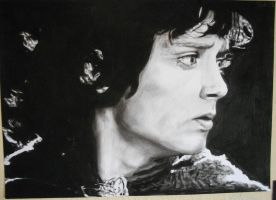 Charcoal Drawing of Frodo Baggins by Valyanna8361