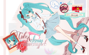 cute/classy Hatsune Miku by i-love-my-pet