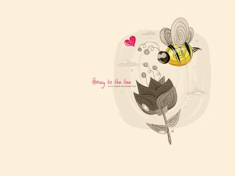 Honey to the bee.. by NaBHaN