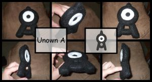 Unown 'A' plushie by whidbeyakiko