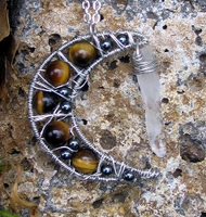 Tigers eye Quartz Necklace by MoonLitCreations