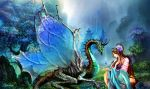 The girl and Dragon by Lamerna
