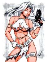 Savage Land Silver Sable by gb2k