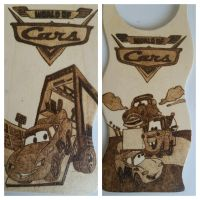 Woodburning - Cars Themed Door Hanger by Stepher17