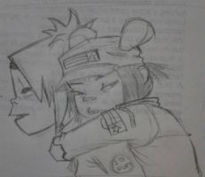 2D and Noodle by Nukarumi-Chan