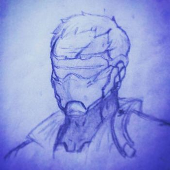 Soldier 76 Sketch by BluetheWartortle