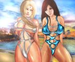Tsunade VS Tifa by xkalipso