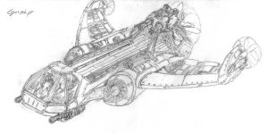 Steampunk Gunship by archangelx5
