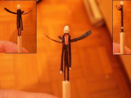 Matchstick carving- Slenderman by RetardedDogProductns