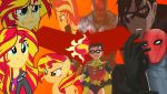 Red Hood X Sunset Shimmer by markellbarnes360