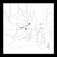An Unexpected Visitor :3 - WIP by MiakodaTheBright