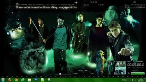 Green Themed Harry Potter by timberwolf90