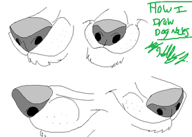 How I Draw Dog Noses by Hawaiifan