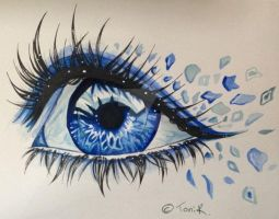 Watercolour Eye :3 by Lurora