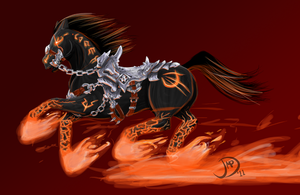 Ruin, War's Steed -Darksiders- by korn-kob