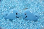 Blue Whale Earrings by Shelby-JoJewelry