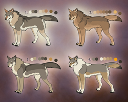 Natural Coyote Adopts 2 by TheWolvenAngel
