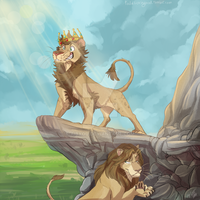 Lion AU: King Gav by Aibyou