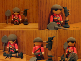 Chibi Soldier RED by Pika-Robo