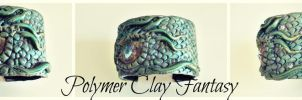 bangle Dragon eye by PolymerClayfantasy