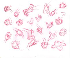 Cartoon hand practice by That-one-gal