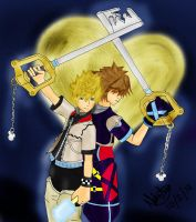 Roxas and Sora - Keyblades by Natini