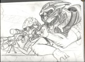 Garrus WIP by bluekrishna