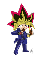 Chibi Yami Yugi_Season 1 by dm17fox