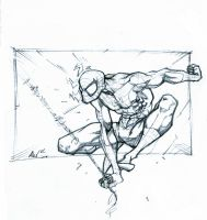 spiderman swings by Alex0wens