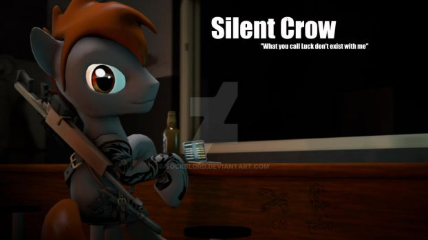 Silent Crow (Fallout equestria) by SocksLord