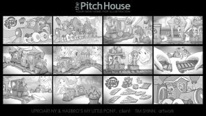 My Little Pony Train Storyboards by timshinn73