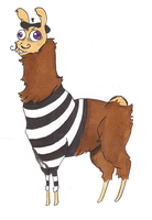 FRENCH THE LLAMA color by IncenteFalconer