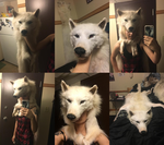 Ghost Arctic Wolf Headdress - Finished by TwilyGirl