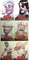walking dead cards by madmaglio