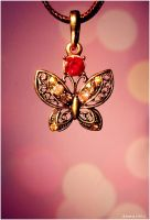 Butterfly Necklace by Demachic