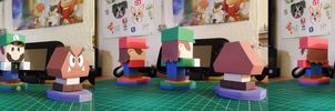 Mario and Luigi Paper Jam ~ Papercraft Models ~ by SuperRetroBro