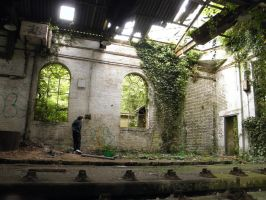 Train Warehouse, Kent by OvergrowthPictures