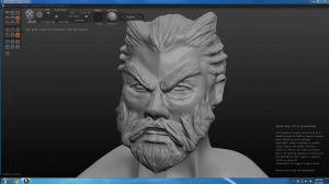Guild Wars 2 Norn Head (trying out Sculptris) by MochisSketchbook