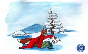 Friends plays in snow by rodrev